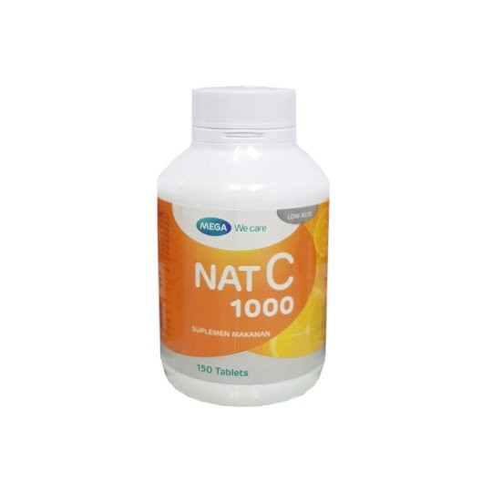 MEGA WE CARE NAT C 1000 MG 150 TABLET - GriyaFarmaOnline