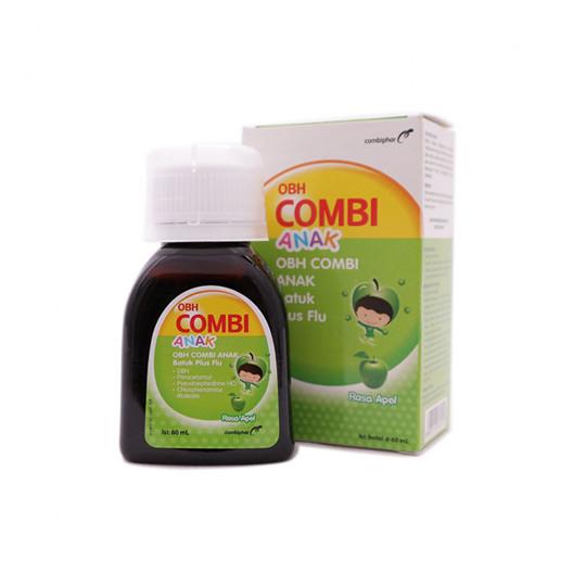 OBH COMBI ANAK BATUK PLUS FLU APEL 60 ML - GriyaFarmaOnline
