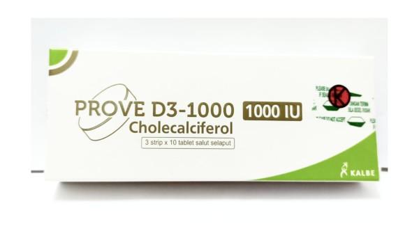 PROVE D3-1000 IU 30 TABLET - GriyaFarmaOnline