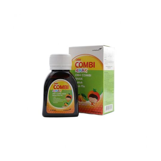 OBH COMBI ANAK BATUK PLUS FLU JERUK 60 ML - GriyaFarmaOnline