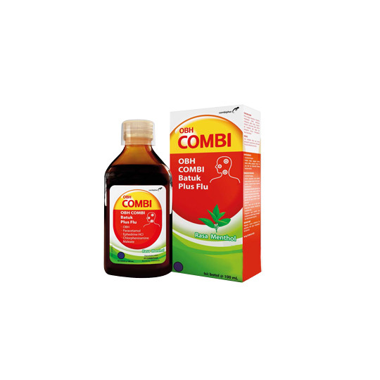 OBH COMBI PLUS BATUK FLU MENTHOL 100 ML - GriyaFarmaOnline