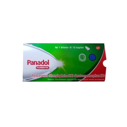 PANADOL FLU & BATUK 10 KAPLET - GriyaFarmaOnline