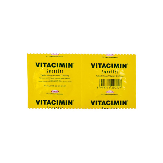 VITACIMIN 500 MG RASA LEMON 2 TABLET - GriyaFarmaOnline