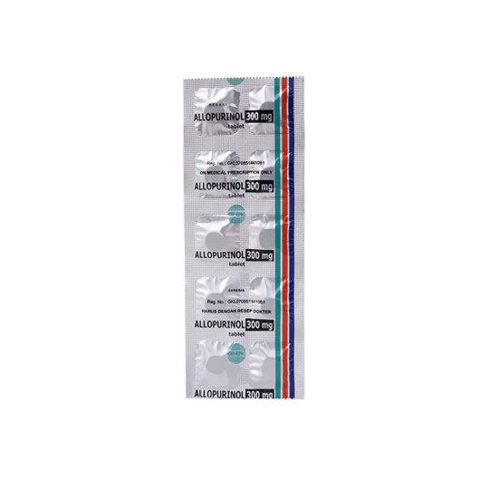 ALLOPURINOL 300 MG 10 TABLET - GriyaFarmaOnline
