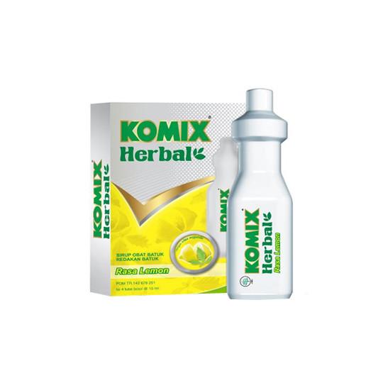KOMIX HERBAL LEMON SIRUP 15 ML 4 BOTOL - GriyaFarmaOnline
