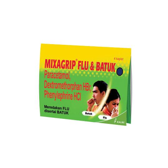 MIXAGRIP FLU DAN BATUK 4 KAPLET - GriyaFarmaOnline