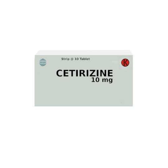 CETIRIZINE 10 MG 10 TABLET - GriyaFarmaOnline