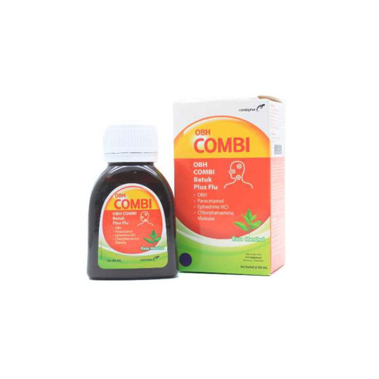 OBH COMBI PLUS BATUK FLU MENTHOL 60 ML - GriyaFarmaOnline