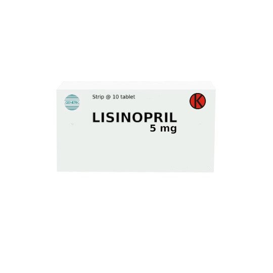 LISINOPRIL 5 MG 10 TABLET - GriyaFarmaOnline