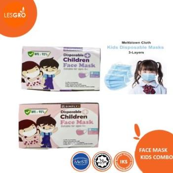 Face Mask Colour Kids Combo (50pcs) - KRTB Mart