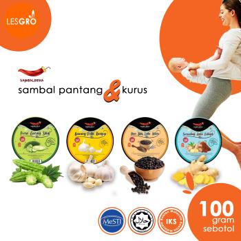 Sambal Travel Pack (120g) - Sambaleena - Lesgro