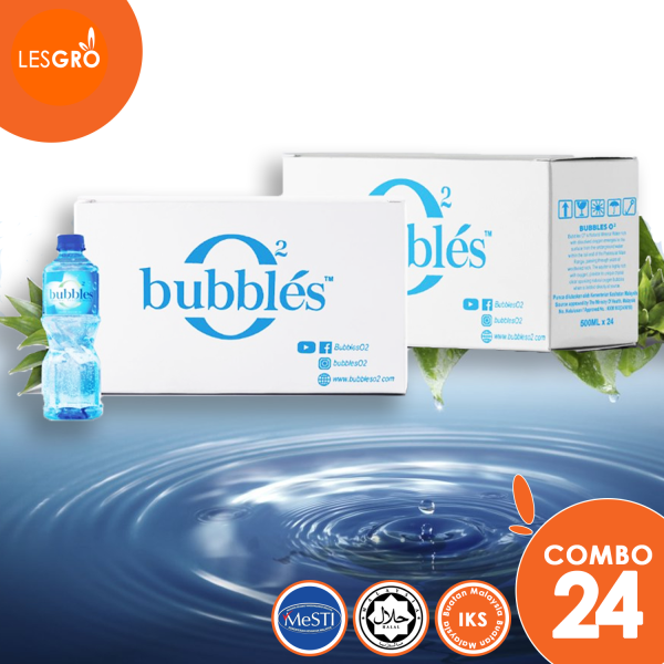 BUBBLES O² Air Mineral Semulajadi (500ml x 24) - Bubbles - Lesgro