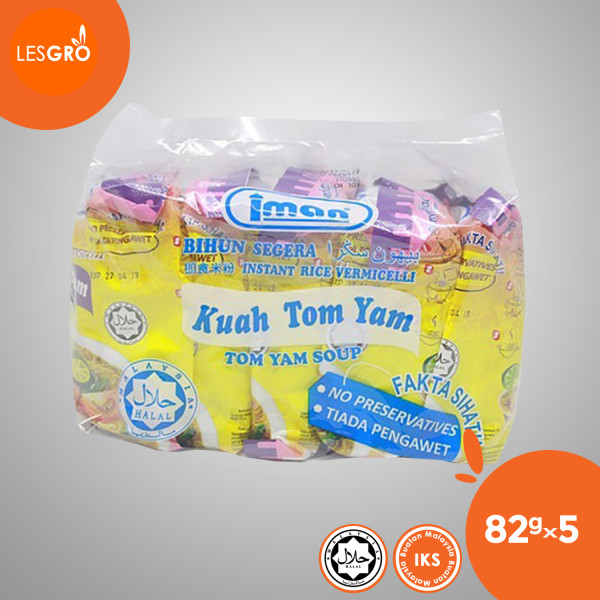 Mee Kuah Tom Yam (82g x 5) - Iman - Lesgro