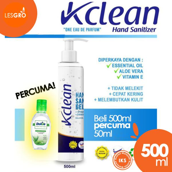 Hand Sanitizer (500ml) - K Clean - Lesgro