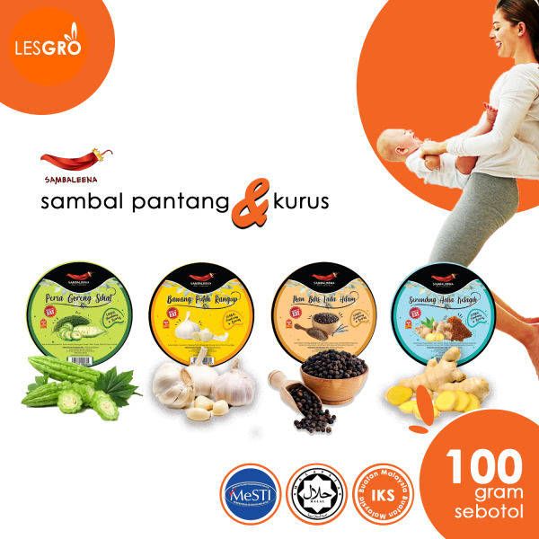 Sambal Pantang & Kurus (100g) - Sambaleena - Lesgro