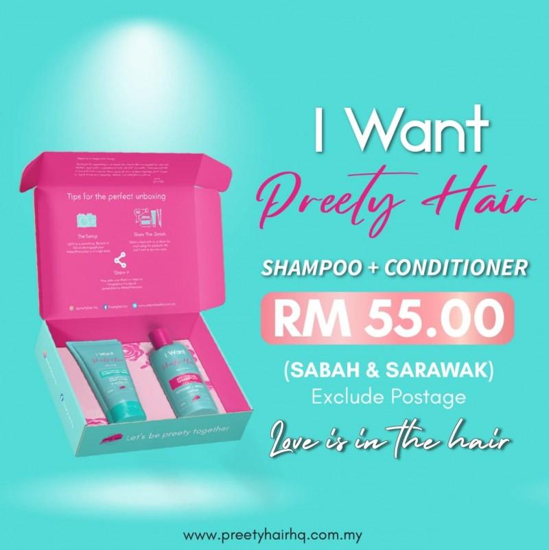 Preety Hair Keratin + Protein Booster Hair Serum- Sabah & Sarawak - Preety Enterprise