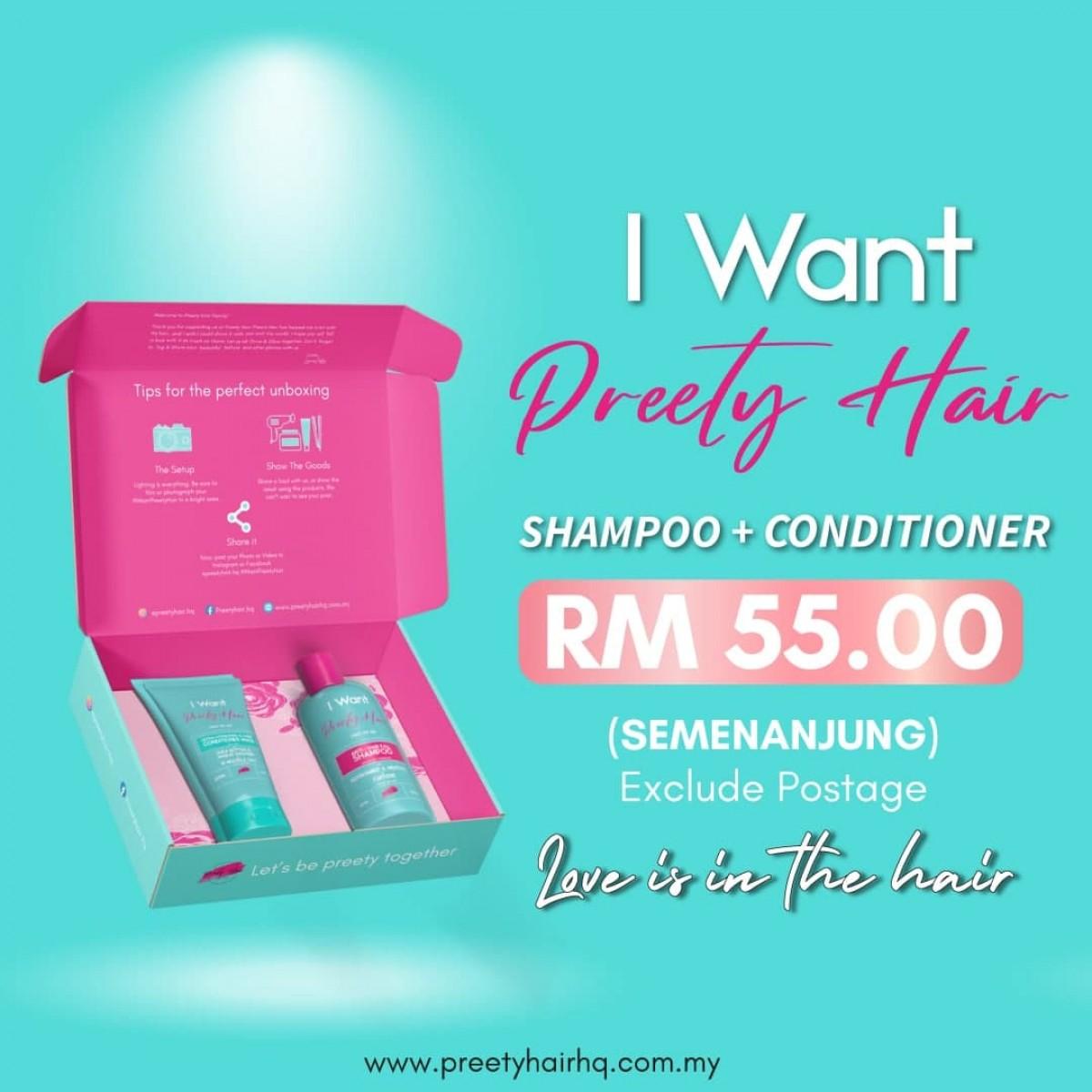 Preety Hair Healthy Hair Nourishing Kit - Semenanjung Malaysia - Preety Enterprise