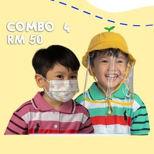 Combo 4 Face Shield + Face Mask