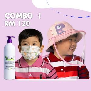Combo 1 Face Mask+Face Shield+Hand Sanitizer