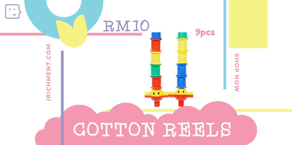 COTTON REELS - 9 PCS