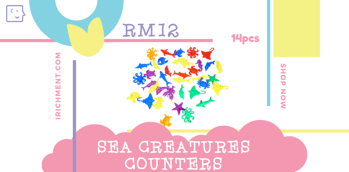 SEA CREATURES COUNTER - 14 PCS