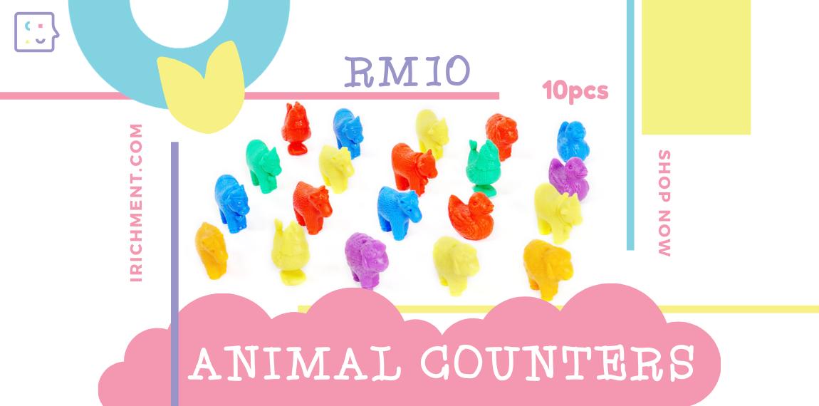 FRIENDLY FARM ANIMAL COUNTERS - 10 PCS