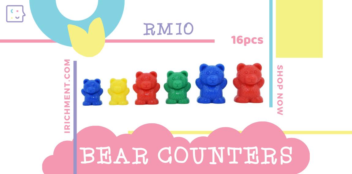 BEAR COUNTERS - 16 PCS