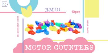 MINI MOTOR COUNTERS - 12 PCS