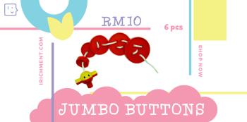 JUMBO LOGIC BUTTON - 6 PCS