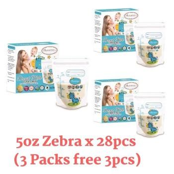 Autumnz Double ZipLock Breastmilk Storage Bag (28 bags) *5oz* ( Z