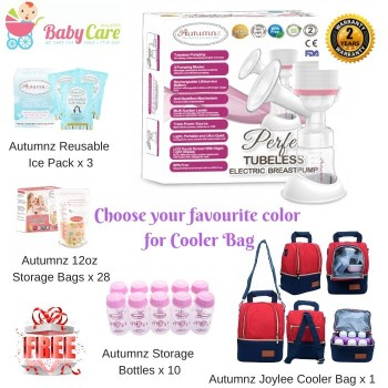 Autumnz Perfect Tubeless Electric Breastpump Package