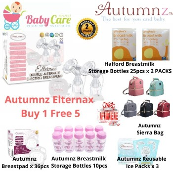 Autumnz ELTERNAX Double Alternate Electric Breastpump Package