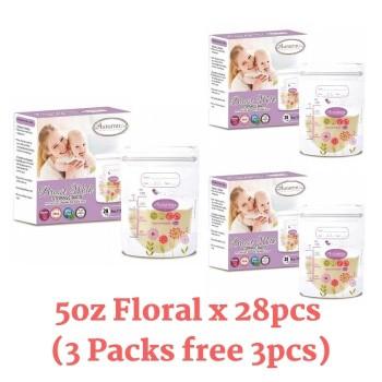 3 Packs Autumnz Double ZipLock Breastmilk Storage Bag 5oz Zebra