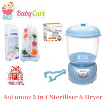 Autumnz 2-in-1 Electric Steriliser & Dryer (Blue)