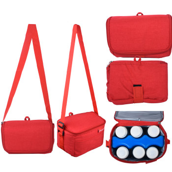 Autumnz Fun Foldaway Cooler Bag (Candy Red)