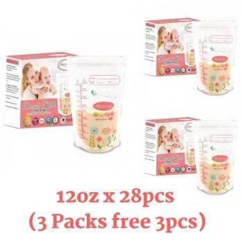 3 Packs Autumnz Double ZipLock Breastmilk Storage Bag 12oz