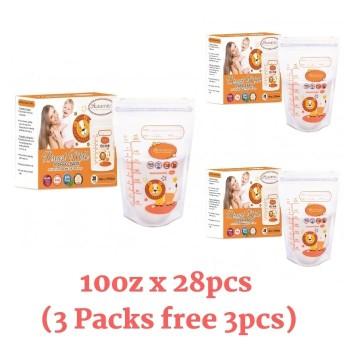 3 Packs Autumnz Double ZipLock Breastmilk Storage Bag 10oz