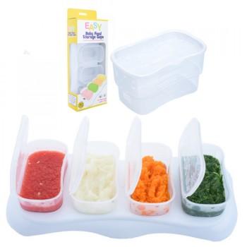 Autumnz EASY Breastmilk & Baby Food Storage Cups (4oz Clear)