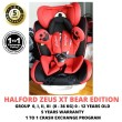 Halford Zeus XT Car Seat Bear Edition (Group 0+/1/2/3) (1 To 1 Cr - Baby Care Malaysia