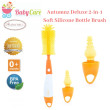Autumnz Deluxe 2-in-1 Soft Silicone Bottle Brush - Baby Care Malaysia
