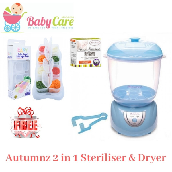 Autumnz 2-in-1 Electric Steriliser & Dryer (Blue) - Baby Care Malaysia