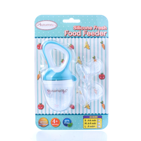 Autumnz Silicone Fresh Food Feeder (Blue) *comes with 3 Silicone Sacs S, M & L* (Blue) - Baby Care Malaysia