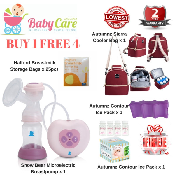 SNOW BEAR Microelectric Breastpump with Sierra Cooler Bag Set - Baby Care Malaysia