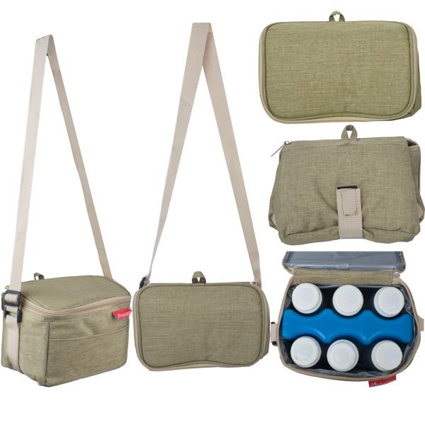 Autumnz Fun Foldaway Cooler Bag (Sage Green) - Baby Care Malaysia