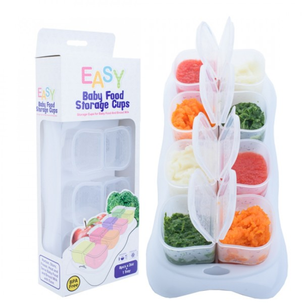 Autumnz EASY Breastmilk & Baby Food Storage Cups (2oz) (Clear) - Baby Care Malaysia
