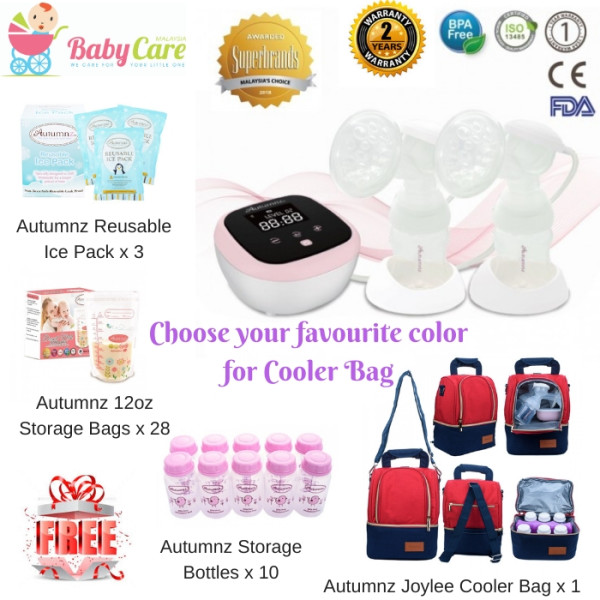 AUTUMNZ Hybrid Duo Rechargeable Breast Pump Package - Baby Care Malaysia