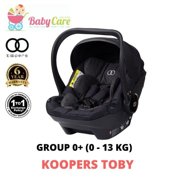 Koopers Toby Carrier Car Seat 0 - 13 kg / 0 - 9 months (1 to 1 Exchange) - Baby Care Malaysia