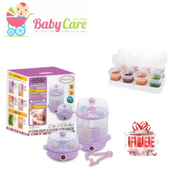 Autumnz 2 in 1 Sterilizer / Steriliser and Food Steamer Free Food - Baby Care Malaysia