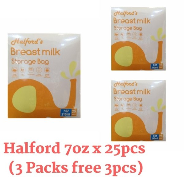 3 Packs Halford Breastmilk Storage Bags 7oz  - Baby Care Malaysia