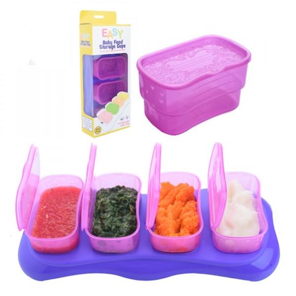 Autumnz EASY Breastmilk & Baby Food Storage Cups (4oz Plum) - Baby Care Malaysia